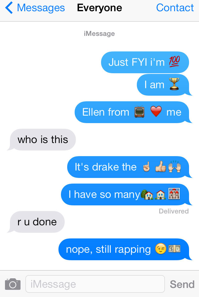 Here Is Drake's Nothing Was the Same If It Were Written in Emoji