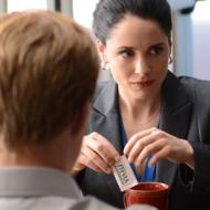 Todd (Jesse Plemons) and Lydia (Laura Fraser) - Breaking Bad _ Season 5, Episode 16 - Photo Credit: Ursula Coyote/AMC