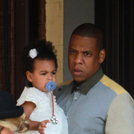 Beyonce, Jay Z and baby Blue Ivy spotted in Toronto. The couple were spotted leaving Nervosa Trattoria, an Italian Restaurant in Toronto.