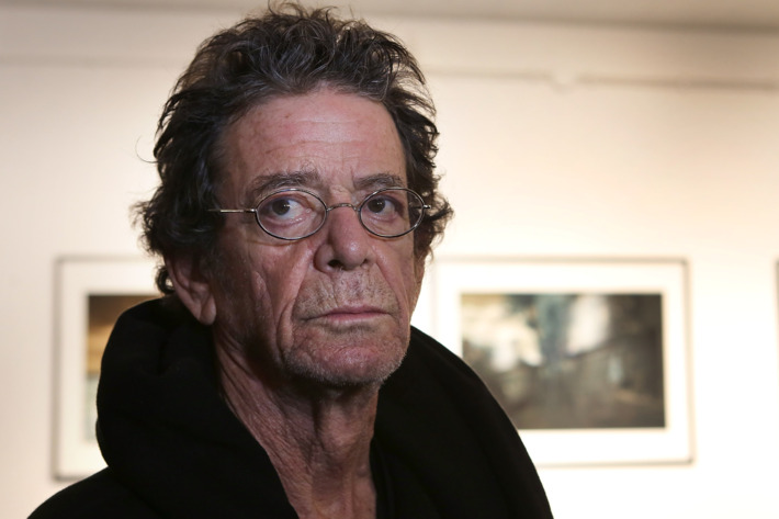 FRANKFURT AM MAIN, GERMANY - NOVEMBER 03:  Lou Reed looks on during his exhibition at Frank Landau Gallery on November 3, 2012 in Frankfurt am Main, Germany.  (Photo by Hannelore Foerster/Getty Images)