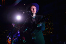 Musician Beck performs onstage during the Samsung Galaxy S 4 Launch at Chi-Lin Restaurant on May 7, 2013 in Los Angeles, California.