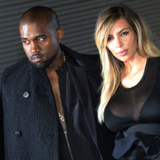 US musician Kanye West and partner Kim Kardashian
