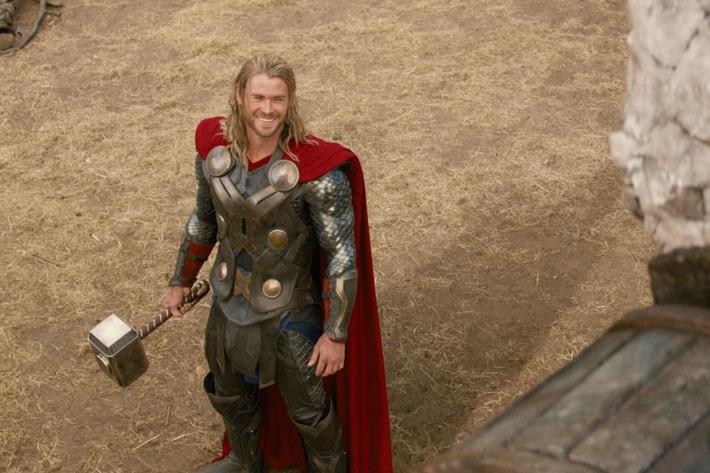 """Marvel's Thor: The Dark World""..Thor (Chris Hemsworth) and a Kronan...Ph: Film Frame..? 2013 MVLFFLLC. TM & ? 2013 Marvel. All Rights Reserved."