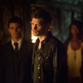 The Originals -- Pictured (L-R): Daniel Gillies as Elijah, Joseph Morgan as Klaus, and Phoebe Tonkin as Hayley.
