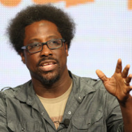 """BEVERLY HILLS, CA - AUGUST 02:  Host/Comic W. Kamau Bell speaks onstage during the """"Totally Biased With W. Kamau Bell"""" panel discussion at the FX portion of the 2013 Summer Television Critics Association tour - Day 10 at The Beverly Hilton Hotel on August 2, 2013 in Beverly Hills, California.  (Photo by Frederick M. Brown/Getty Images)"""