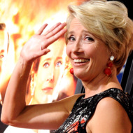 """Actress Emma Thompson arrives at the premiere of Walt Disney Pictures' """"Saving Mr. Banks"""" during AFI FEST 2013 presented by Audi at the Chinese Theatre on November 7, 2013 in Hollywood, California."""