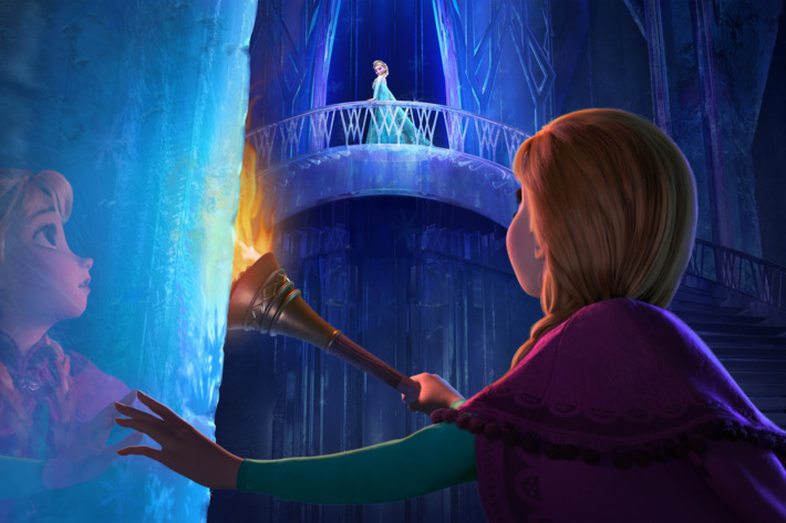 """""""FROZEN"""" (Top to Bottom) ELSA and ANNA. ?2013 Disney. All Rights Reserved."""