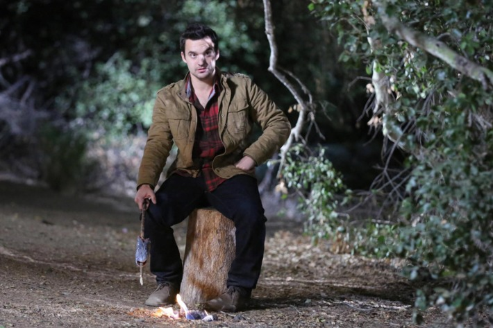 """NEW GIRL:  Nick (Jake Johnson) tries out his survival skills when the gang goes on a camping trip for Thanksgiving in the """"Thanksgiving III"""" episode of NEW GIRL airing Tuesday, Nov. 26 (9:00-9:30 PM ET/PT) on FOX."""