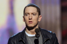 Eminem accepts an award onstage during The 53rd Annual GRAMMY Awards held at Staples Center on February 13, 2011 in Los Angeles, California.
