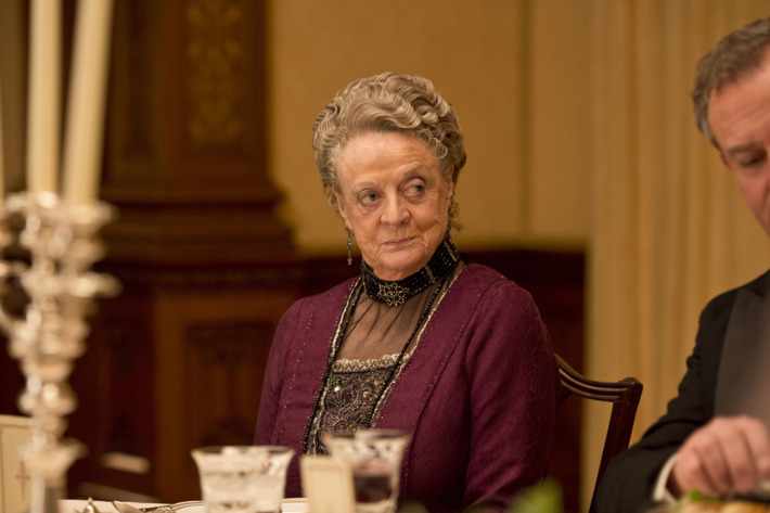Part One         Sunday, January 5, 2014         9 – 11pm ET on MASTERPIECE on PBS         Six months after Matthew's death, family and servants try to cure Mary and Isobel of their deep         depression. Meanwhile, O'Brien causes a final crisis.                  Shown: Maggie Smith as Violet, the Dowager Countess                  ? Nick Briggs/Carnival Film & Television Limited 2013 for MASTERPIECE                  This image may be used only in the direct promotion of MASTERPIECE CLASSIC. No other rights are granted. All rights are reserved. Editorial use only. USE ON THIRD PARTY SITES SUCH AS FACEBOOK AND TWITTER IS NOT ALLOWED.