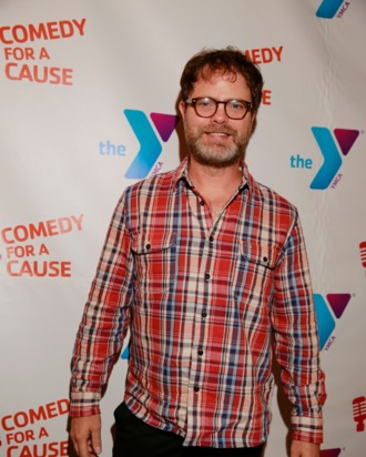 WEST HOLLYWOOD, CA - OCTOBER 22: Actor Rainn Wilson poses at the red carpet at The Laugh Factory on October 22, 2013 in West Hollywood, California. (Photo by Pierre Zonzon/Getty Images for The Hollywood Wilshire YMCA)