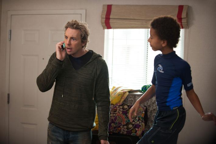 "PARENTHOOD -- ""Jump Ball"" Episode 513 -- Pictured: (l-r)   Dax Shepard as Crosby Braverman, Tyree Brown as Jabbar Trussell."