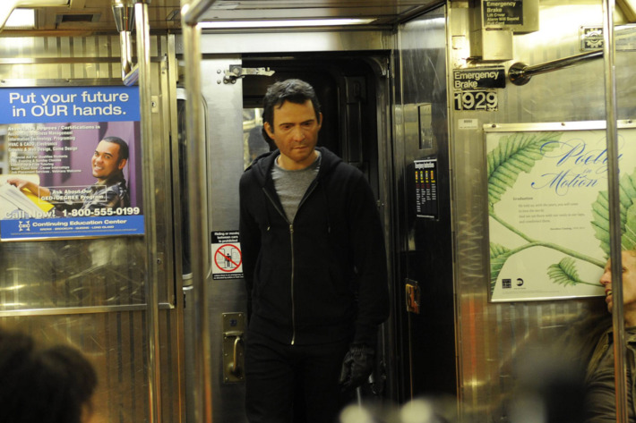 """THE FOLLOWING: A follower of Joe Carroll enters a subway in the """"Resurrection"""" Season Two special preview episode of THE FOLLOWING, airing Sunday, Jan. 19."""