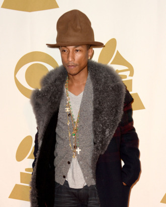 LOS ANGELES, CA - JANUARY 27: Recording artist Pharrell Williams attends