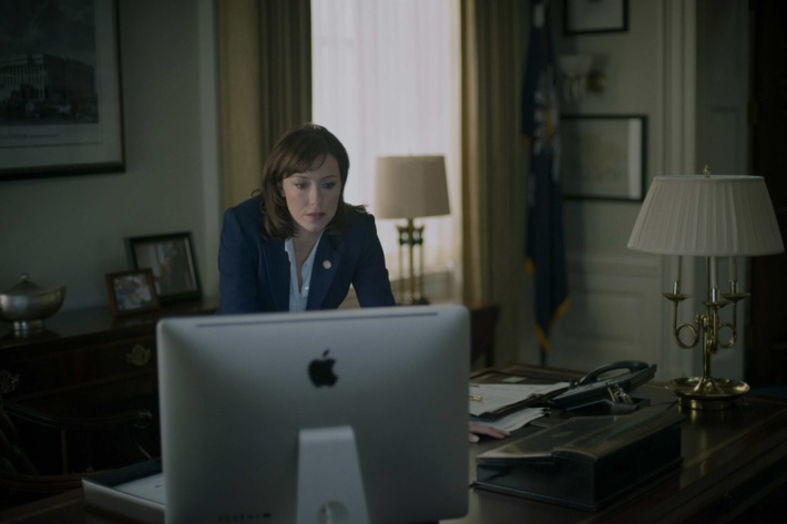 """Molly Parker in season 2 of Netflix's """"House of Cards."""" Photo credit: Nathaniel Bell for Netflix."""