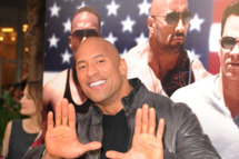 "MIAMI BEACH, FL - APRIL 11: Dwayne Johnson attends the ""Pain & Gain"" premiere on April 11, 2013 in Miami Beach, Florida. (Photo by Larry Marano/Getty Images)"