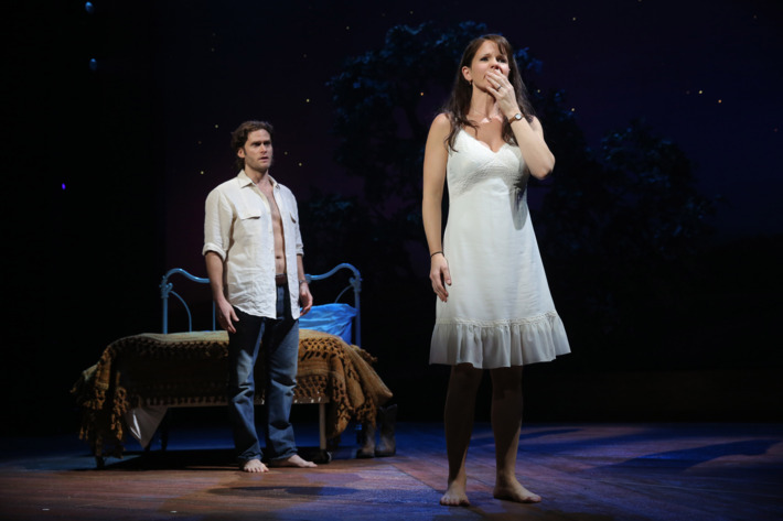 The Bridges of Madison County         Gerald Schoenfeld Theatre                  Cast List:         Kelli O'Hara         Steven Pasquale         Hunter Foster         Michael X. Martin         Cass Morgan         Caitlin Kinnunen         Derek Klena         Whitney Bashor         Ephie Aardema         Jennifer Allen         Charlie Franklin         Kevin Kern         Katie Klaus         Luke Marinkovich         Aaron Ramey         Dan Sharkey         Jessica Vosk         Tim Wright                  Production Credits:         Bartlett Sher (Direction)         Michael Yeargan (Scenic Design)         Catherine Zuber (Costume Design)         Donald Holder (Lighting Design)         Jon Weston (Sound Design)         Danny Mefford (Movement)         Tom Murray (Music Director)         Jason Robert Brown (Orchestrations)         Michael Keller (Music Contractor)                  Other Credits:         Lyrics by: Jason Robert Brown         Music by: Jason Robert Brown         Book by: Marsha Norman
