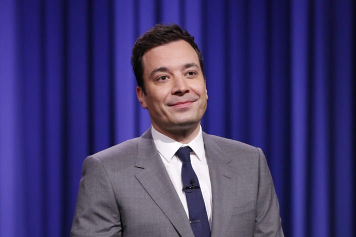 THE TONIGHT SHOW STARRING JIMMY FALLON -- Episode 0001 -- Pictured: Host Jimmy Fallon during the monologue on February 17, 2014 -- (Photo by: Lloyd Bishop/NBC/NBCU Photo Bank)