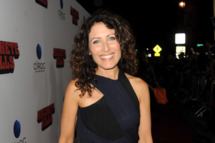 """LOS ANGELES, CA - OCTOBER 02:  Actress Lisa Edelstein arrives at the premiere of Open Road Films' """"Machete Kills"""" at Regal Cinemas L.A. Live on October 2, 2013 in Los Angeles, California.  (Photo by Kevin Winter/Getty Images)"""