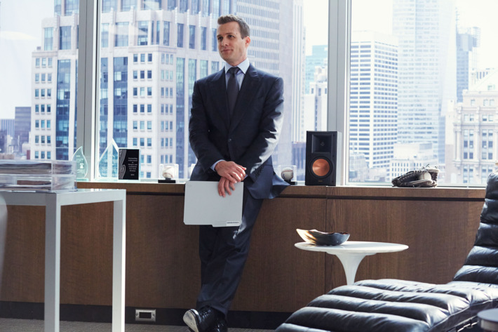 """SUITS -- """"Buried Secrets"""" Episode 311 -- Pictured: Gabriel Macht as Harvey Specter -- (Photo by: Shane Mahood/USA Network)"""