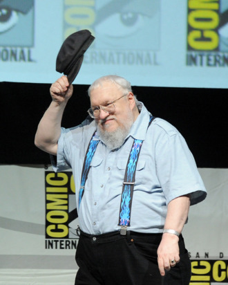 Writer George R.R. Martin speaks onstage during the
