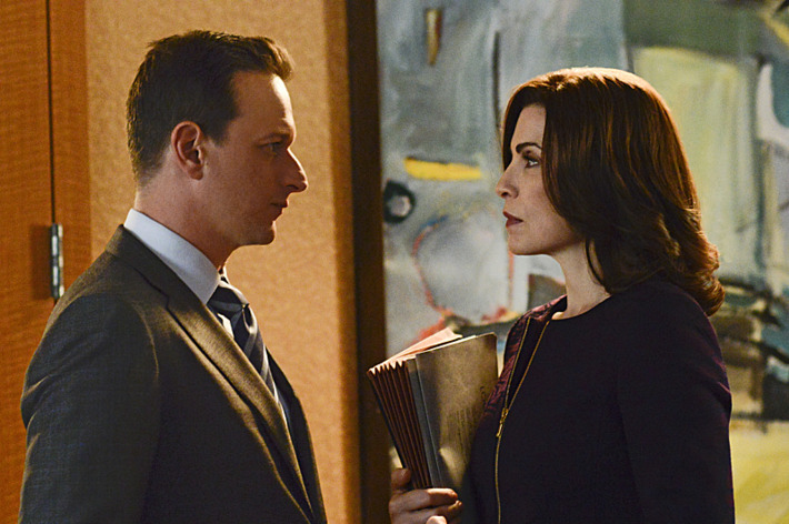 """""""A Precious Commodity""""--Will (Josh Charles, left) needs Alicia???€?™s (Julianna Margulies, right) help when an internal conflict at the firm necessitates a vote by the partners, on THE GOOD WIFE, Sunday, Oct 13 (9:00-10:00 PM, ET/PT) on the CBS Television Network. Photo: Myles Aronowitz/CBS ?'??2013 CBS Broadcasting Inc. All Rights Reserved"""