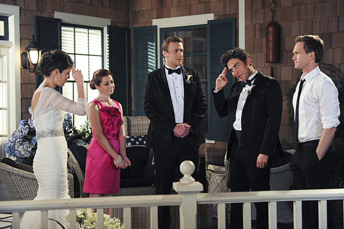 """""""Last Forever Parts One and Two"""" ???€?""""Ted finally finishes telling his kids the story of how he met their mother, on the special one-hour series finale of HOW I MET YOUR MOTHER, Monday, March 31 (8:00-9:00 PM, ET/PT) on the CBS Television Network.   Pictured: Josh Radnor as Ted, Cobie Smulders as Robin, Jason Segel as Marshall, Alyson Hannigan as Lily, and Neil Patrick Harris as Barney. Photo: Ron P. Jaffe/Fox ?'?? 2014 Fox Television. All rights reserved"""