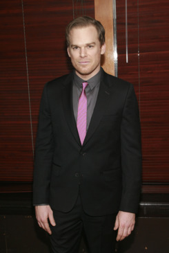 """Michael C. Hall==Opening Night Curtain Call and After Party for """"The Realistic Joneses""""==The Redeye Grill, 890 7th Avenue, NYC.==April 06, 2014==?Patrick Mcmullan==photo-Sylvain Gaboury/PatrickMcmullan.com===="""