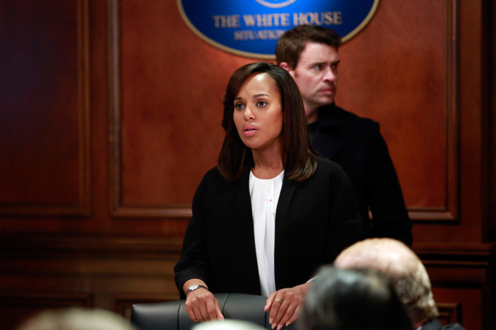 "SCANDAL - ""The Price of Free and Fair Elections"" - Election Day has arrived and nothing is off limits as the candidates try to capture votes. Meanwhile, Olivia tries to understand Maya's motives and Charlie makes a very surprising move, on the season finale of ABC's ""Scandal,"" THURSDAY, APRIL 17 (10:00-11:00 p.m., ET) on the ABC Television Network. (ABC/Ron Tom)KERRY WASHINGTON, SCOTT FOLEY"