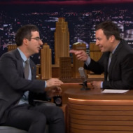 Watch John Oliver Tell Jimmy Fallon About How Jon Stewart Made Him Cry
