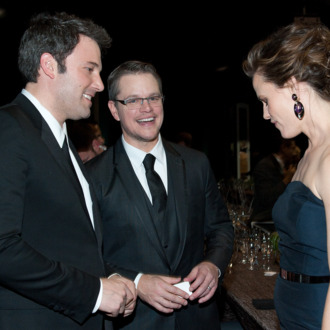 LOS ANGELES, CA - JANUARY 18: Actors Ben Affleck, Matt Damon and Jennifer Garner attend the 20th Annual Screen Actors Guild Awards at The Shrine Auditorium on January 18, 2014 in Los Angeles, California. (Photo by Angela Weiss/FilmMagic)