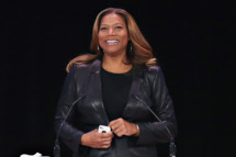 Honoree Queen Latifah (C) speaks during the 2014  Matrix Awards at The Waldorf Astoria on April 28, 2014 in New York City.