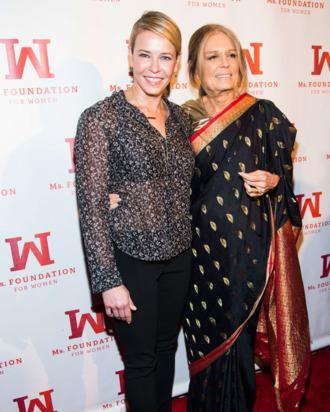Chelsea Handler, Gloria Steinem==Ms. Foundation for Women Gloria Awards==Cipriani's, 110 East 42nd St., NYC==May 01, 2014==? Patrick McMullan==Photo - Ilir Bajraktari / PatrickMcMullan.com====