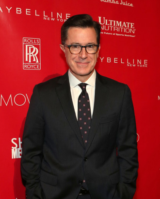 NEW YORK, NY - JANUARY 31: Stephen Colbert attends the 2014 Shape & Men's Fitness Super Bowl Party at Cipriani 42nd Street on January 31, 2014 in New York City. (Photo by Tyler Kaufman/Getty Images)