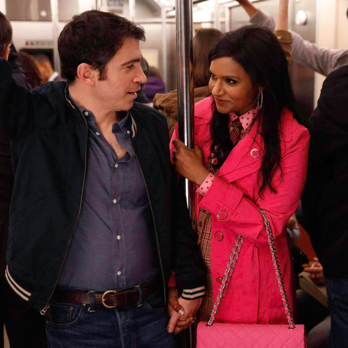 """THE MINDY PROJECT: Mindy (Mindy Kaling, R) and Danny (Chris Messina, L) rekindle their romance in the """"Danny and Mindy"""" Season Finale episode of THE MINDY PROJECT airing Tuesday, May 6 (9:30-10:00 PM ET/PT) on FOX.THE MINDY PROJECT: Mindy (Mindy Kaling, R) and Danny (Chris Messina, L) rekindle their romance in the """"Danny and Mindy"""" Season Finale episode of THE MINDY PROJECT airing Tuesday, May 6 (9:30-10:00 PM ET/PT) on FOX. ©2014 Fox Broadcasting Co. Cr: Jordin Althaus/FOX"""