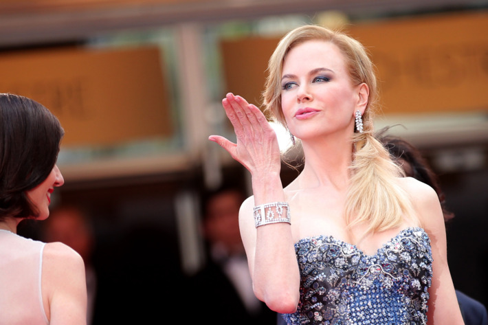 """CANNES, FRANCE - MAY 14:  Actress Nicole Kidman attends the Opening Ceremony and the """"Grace of Monaco"""" premiere during the 67th Annual Cannes Film Festival on May 14, 2014 in Cannes, France.  (Photo by Gisela Schober/Getty Images)"""