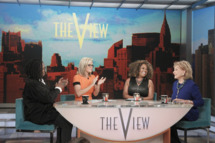 """THE VIEW - 5/15/14 - For the first time in television history, all 11 co-hosts of ABC's """"The View,"""" present and past, shared the same stage, live, THURSDAY, MAY 15 on ABC to celebrate the show's creator Barbara Walters.  Walters is the last remaining co-host of the original panel of five women she helped assemble. """"The View"""" airs Monday-Friday (11:00 a.m.- 12 noon, ET) on the ABC Television Network.  (ABC/Lou Rocco)WHOOPI GOLDBERG, JENNY MCCARTHY,  SHERRI SHEPHERD, BARBARA WALTERS"""