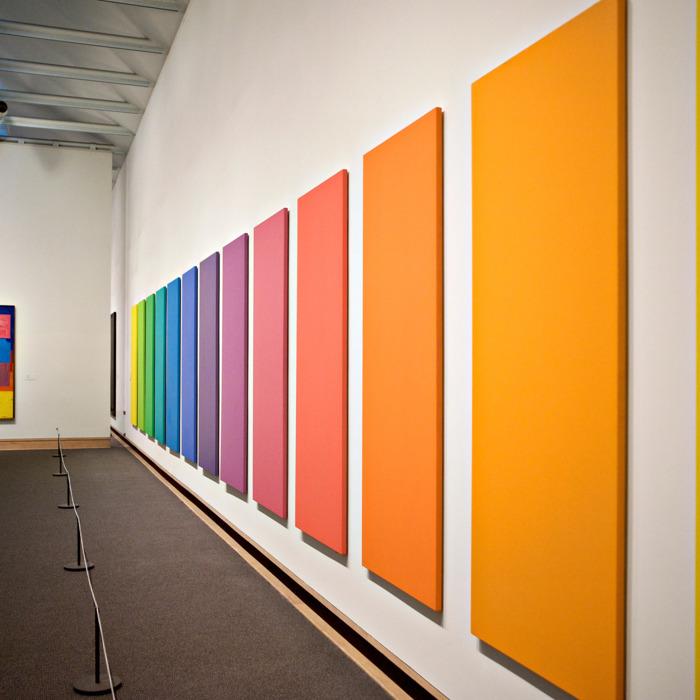 Contemporary art exhibit at the Metropolitan Museum of Art.