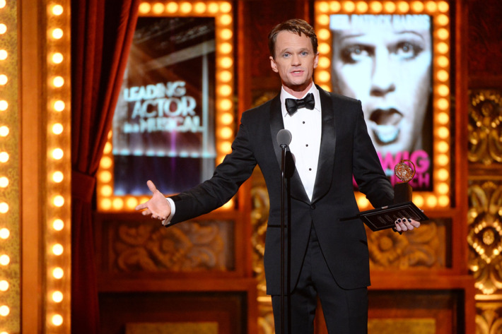 NEW YORK, NY - JUNE 08:  Neil Patrick Harris accepts the award for Best Performance by an Actor in a Leading Role in a Musical for Hedwig and the Angry Inch onstage during the 68th Annual Tony Awards at Radio City Music Hall on June 8, 2014 in New York City.  (Photo by Theo Wargo/Getty Images for Tony Awards Productions)
