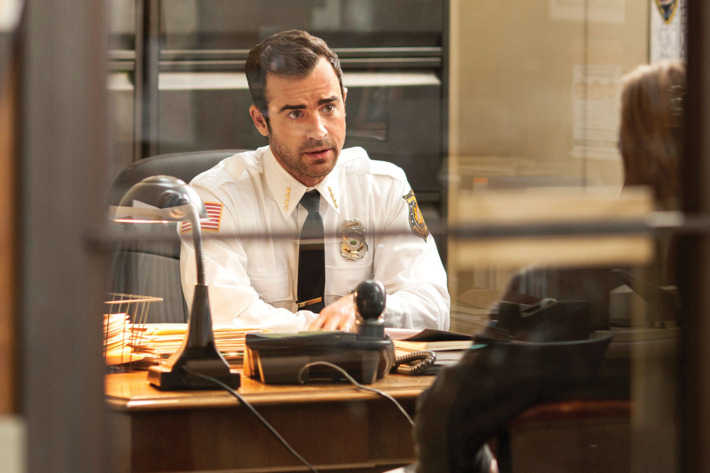 """HBO  2014The Leftovers Episode 102""""Penguin One, Us Zero""""Characters-Justin Theroux-  KevinFrank Harts-  Deputy Dennis LuckyBill Heck-  Darren"""