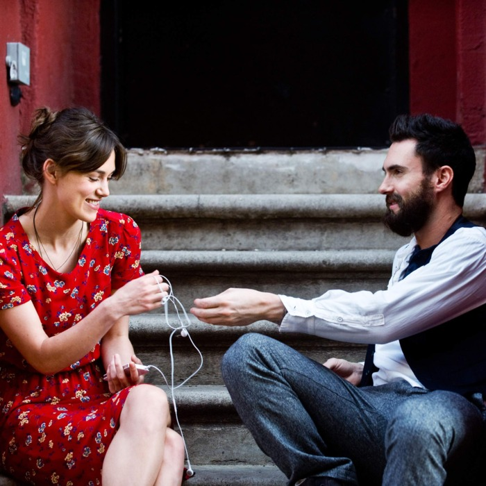 (L-R) KEIRA KNIGHTLEY and ADAM LEVINE star in CAN A SONG SAVE YOUR LIFE?