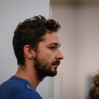 NEW YORK, NY - JUNE 27: Shia LaBeouf is arraigned in Midtown Community Court, on June 27, 2014 in New York City. The actor is charged with harrassment, disorderly conduct and criminal trespass following an incident during the show'