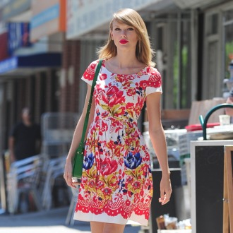 NEW YORK, NY - JUNE 20: Taylor Swift is seen in the East Village on June 20, 2014 in New York City. (Photo by Alo Ceballos/GC Images)
