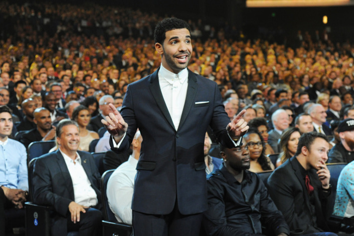 LOS ANGELES, CA - JULY 16:  Host Drake attends The 2014 ESPY Awards at Nokia Theatre L.A. Live on July 16, 2014 in Los Angeles, California.  (Photo by Kevin Mazur/WireImage)