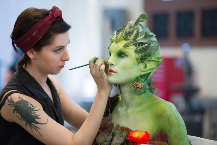 "FACE OFF -- ""Life and Death"" Episode 701 -- Pictured: Dina Cimarusti -- (Photo by: Isabella Vosmikova/Syfy)"