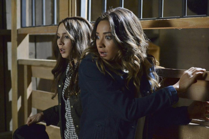"""PRETTY LITTLE LIARS - """"Scream For Me"""" - Alison moves in with Hanna, which pushes Hanna further down a dark path in """"Scream for Me,"""" an all-new episode of ABC Family's hit original series """"Pretty Little Liars,"""" premiering Tuesday, July 29th (8:00 - 9:00 PM ET/PT). (ABC FAMILY/Eric McCandless)TROIAN BELLISARIO, SHAY MITCHELL"""