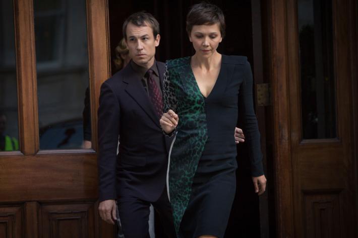 "L to R, Tobias Menzies and Maggie Gyllenhaal - in the SundanceTV original series ""The Honorable Woman"" - Photo Credit: Robert Viglasky"