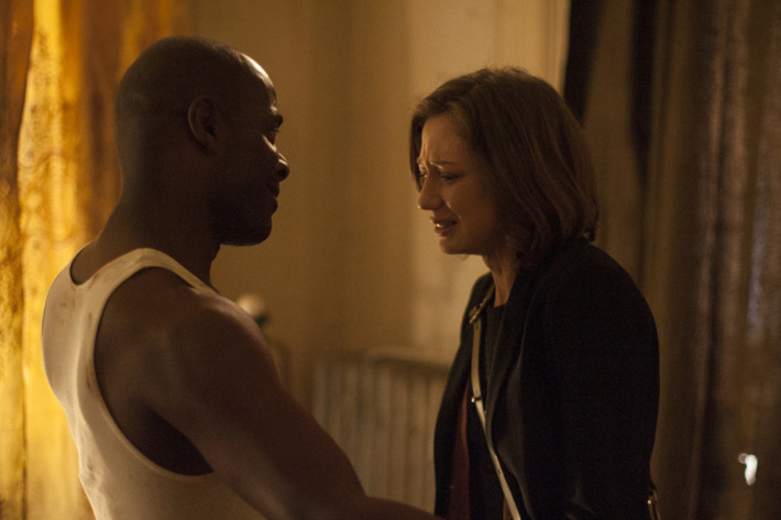 """HBO  2014The Leftovers Episode 106""""Guest""""Characters-Carrie Coon-  Nora DurstPaterson Joseph-  WayneTom Noonan-  CasparBrandon Espinoza-  Ray"""