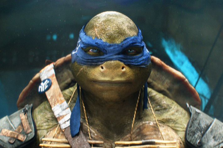 Leonardo in TEENAGE MUTANT NINJA TURTLES, from Paramount Pictures and Nickelodeon Movies.