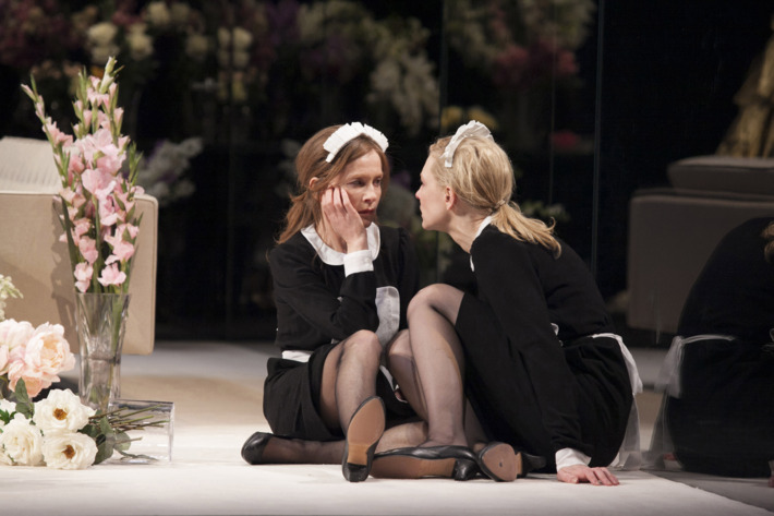 Isabelle Huppert and Cate Blanchett in Sydney Theatre Company's The Maids. Photo credit: ?Lisa Tomasetti 2013